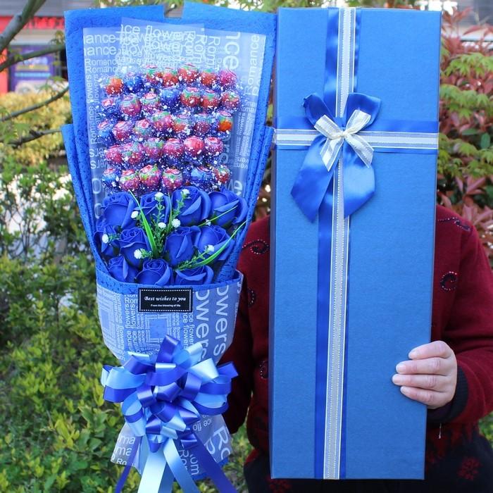 真知棒棒棒糖花束零食糖果类 女生情人节礼物糖果公仔花束卡通。