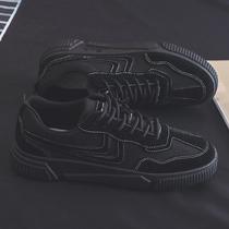 2020春季新款帆布潮鞋韩版潮流男鞋百搭休闲账动板鞋黑色低帮布鞋