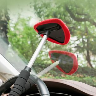 汽车用品挡风玻璃擦除雾清洗刷前挡车窗刮水工具车用擦车清洁神器价格