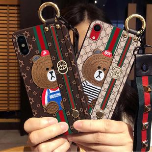 8LV2苹果xs max手机壳6s女款iphonex/7潮X牌8plus硅胶gucci6套xr