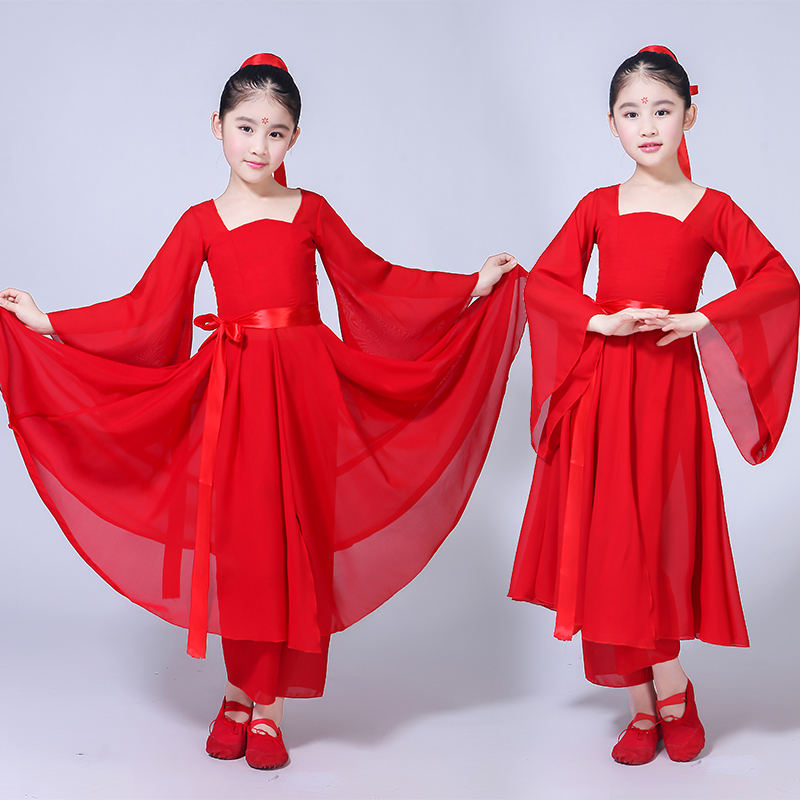 Childrens classical dance big fish Begonia performance clothes cool dance clothes modern improved Hanfu photo clothes monochrome clothes