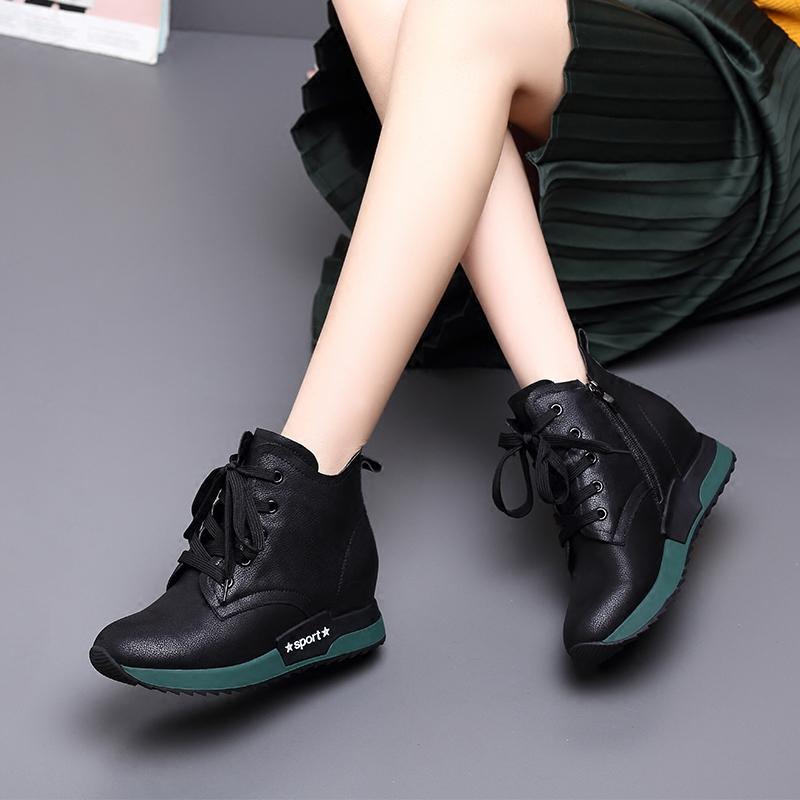 Женские ботинки на платформе / Высокие кроссовки Артикул 575840473584