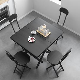 折叠桌小桌子简易便携家用餐桌出租屋用小户型吃饭桌方桌摆摊桌子图片