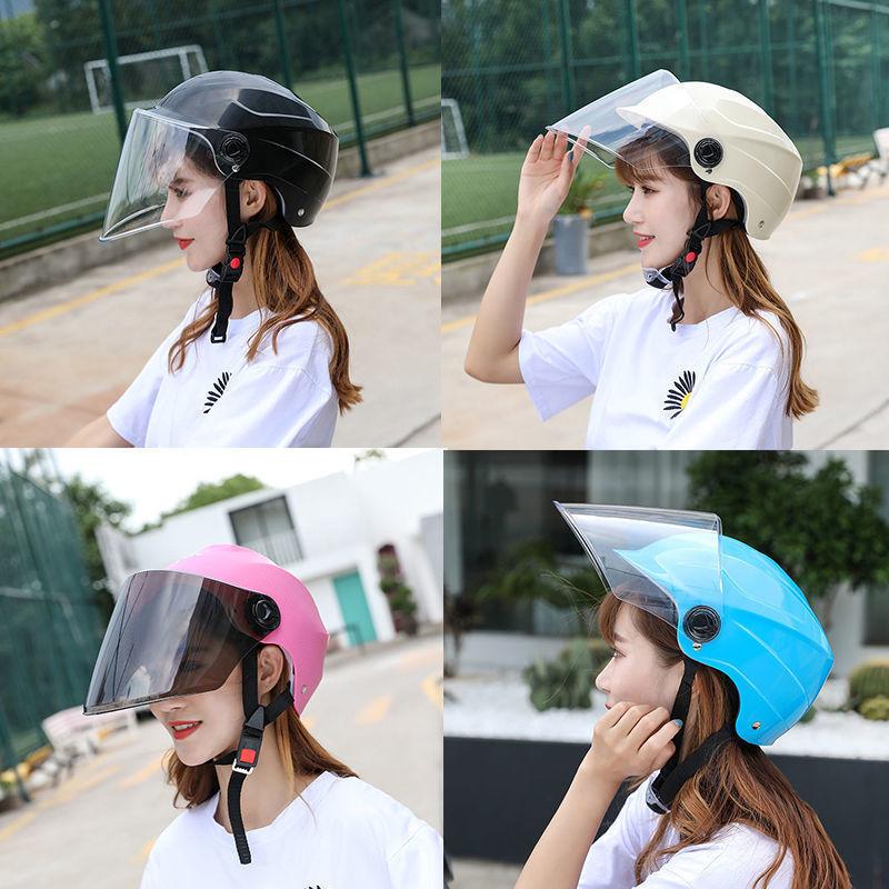 电动车头盔四季电瓶车摩托车男女轻便可爱安全帽四季通用全盔头灰
