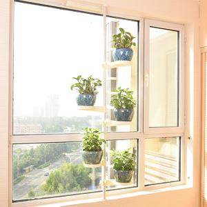 飘窗花架顶天立地多层室内阳台省空间绿萝多肉花盆架窗台花架子