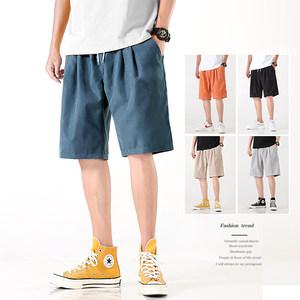 短裤男士夏季休闲五分中裤子宽松外穿冰丝潮流运动速干沙滩大裤衩