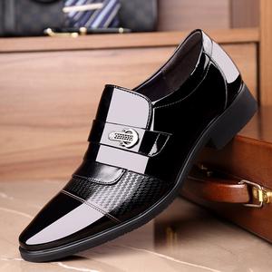 头层牛皮漆皮亮皮男装皮鞋内增高6cm5男士商务正装三接头工作皮鞋