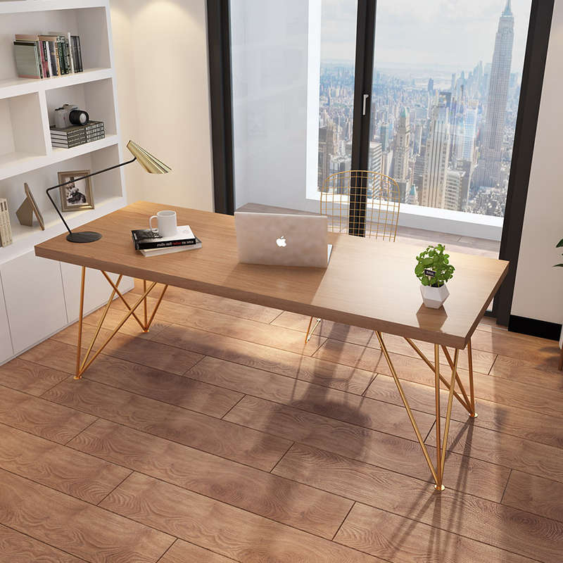Nordic computer desk chair combination desk simple modern solid wood desk household bedroom small family desk