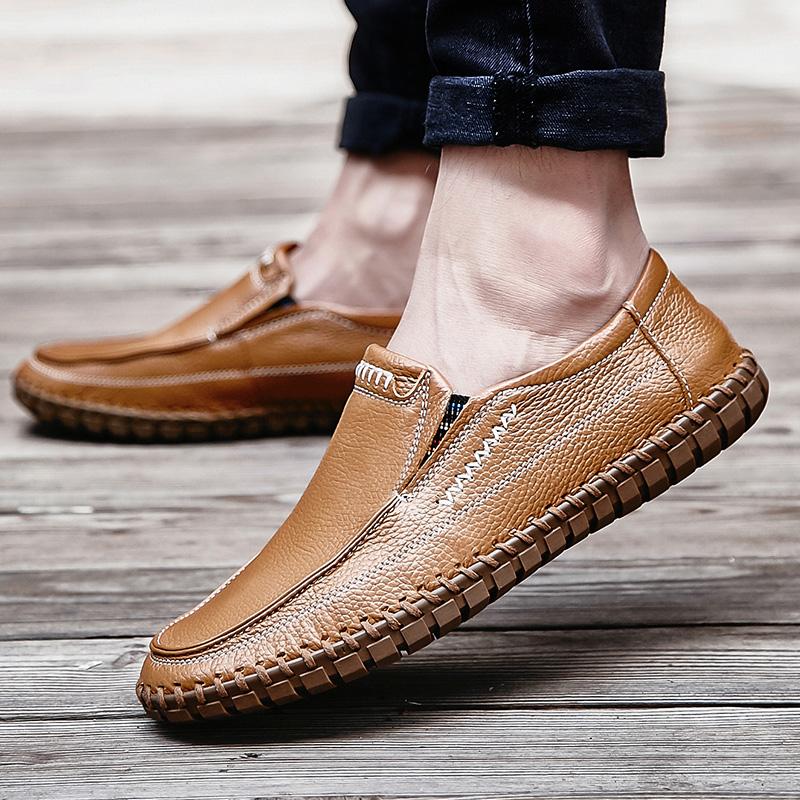 商务休闲鞋男士英伦时尚舒适轻便摩登驾车鞋软底懒人一脚蹬平底鞋