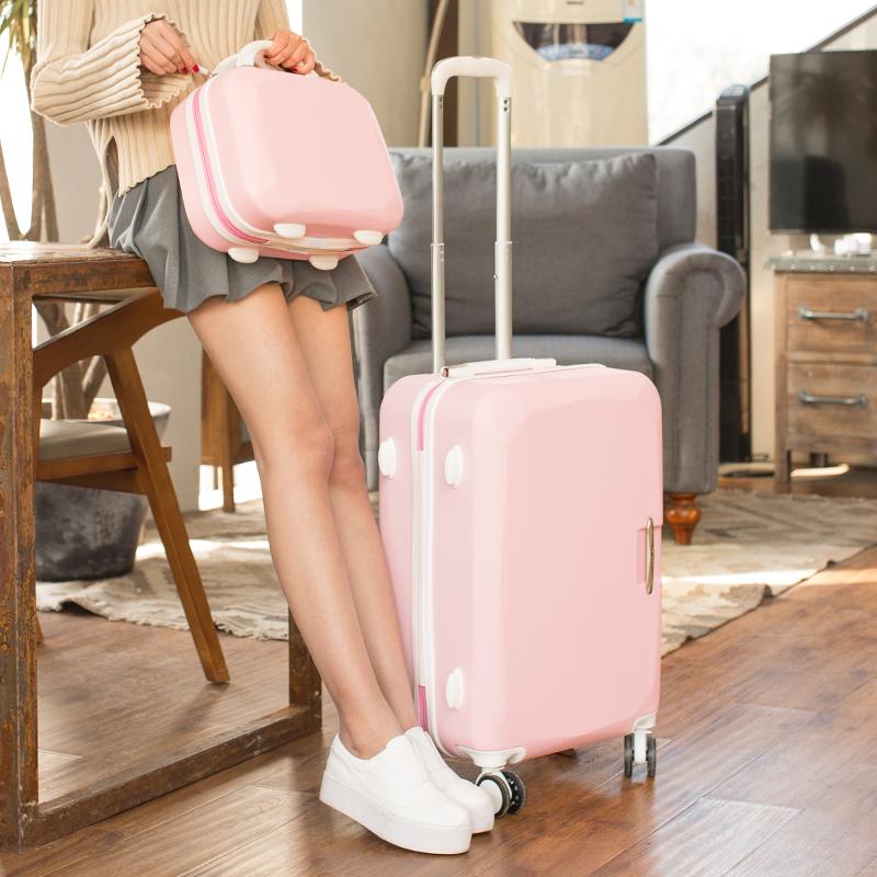 行李箱女拉杆旅行箱高中大学生密码皮箱子万向轮24寸20寸网红ins