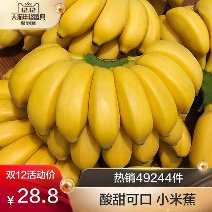 源鲜汇 广西小米蕉新鲜的水果当季包邮整箱10斤批发小香蕉非芭蕉