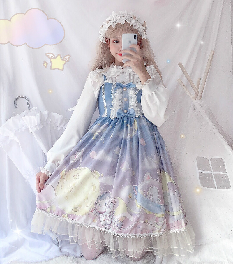 Summer Lolita Dress Lolita Dress Lolita suit primary school girl 12-15 years old jsk dress