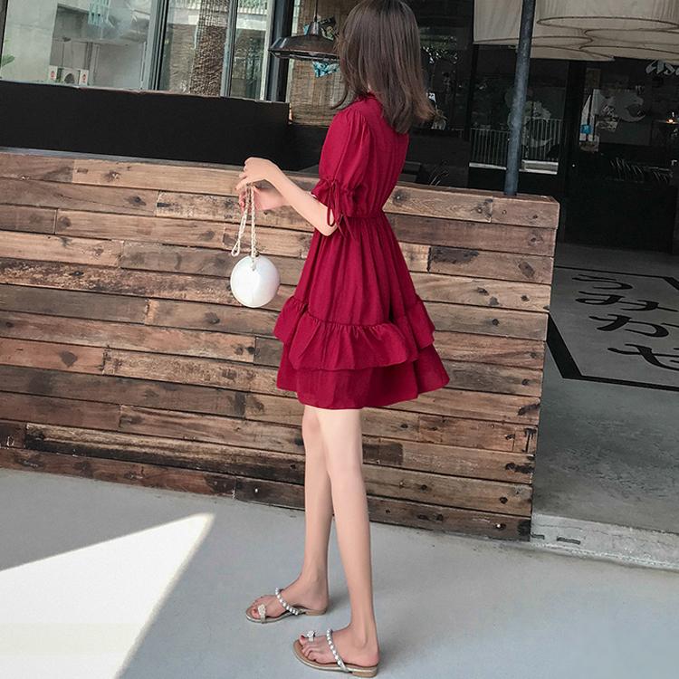 雪纺连衣裙2019新款夏季流行夏天裙子小个子裙子仙女超仙森系学生满240.00元可用186.1元优惠券