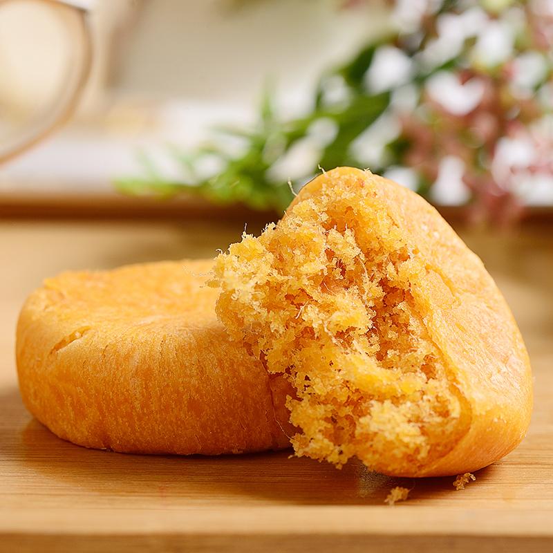佳佳麦丰肉松饼1kg散装零食原味传统糕点面包点心营养早餐500g