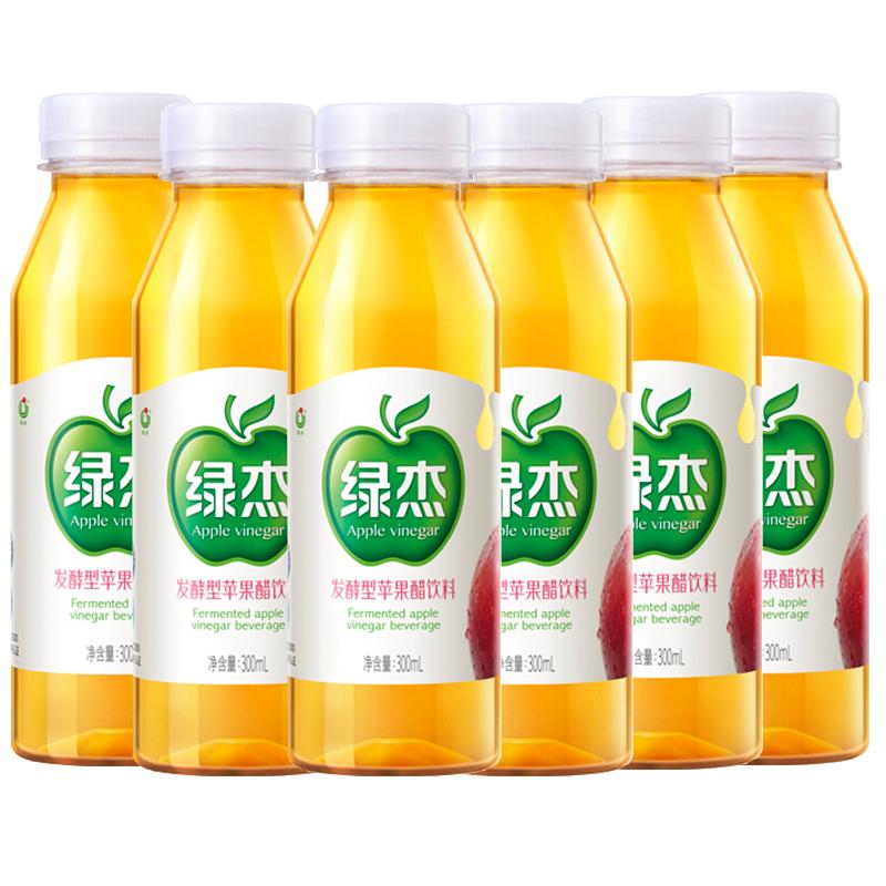 山东烟台绿杰苹果醋饮料低卡饮品绿色食品防腐剂300mlx6