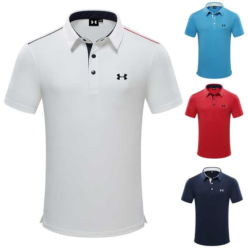 Golf breathable T-shirt quick drying tpolo shirt sweat wicking short sleeve UA clothing clothes mens Sports Golf outdoor