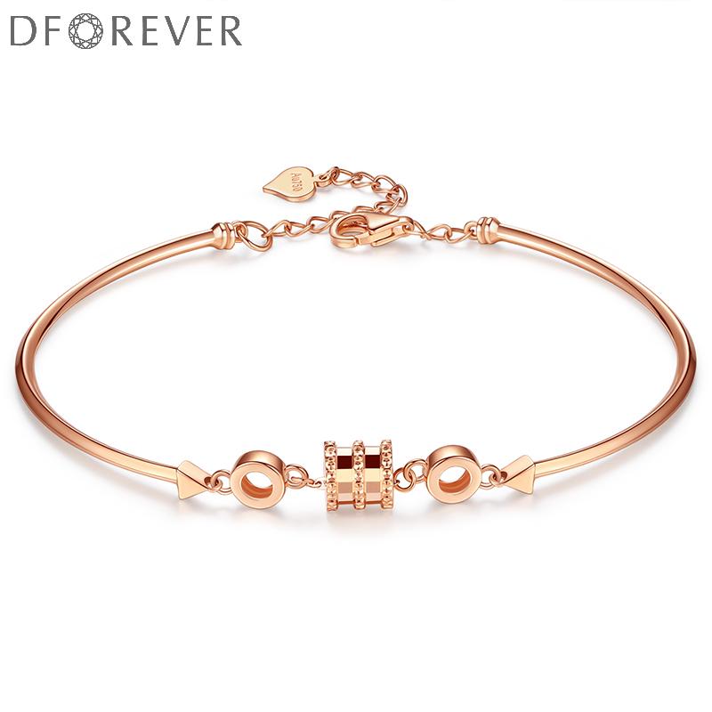 Small waist 18K Gold Bracelet womens color gold bracelet bracelet rose gold soft bracelet customization