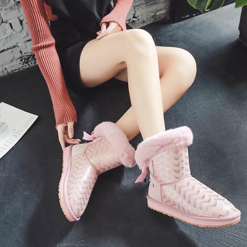 中筒冬季棉鞋2018新款防滑加绒短靴_网红优惠券