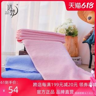 远梦浴巾遇见系列浴巾100棉面料毛圈细密柔软吸水紧实耐用粉 棕色