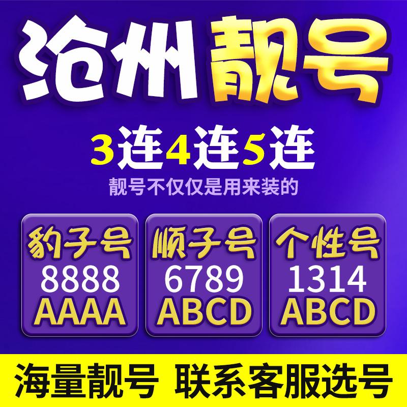 河北沧州手机靓号联通吉祥号移动选号码电话卡连号好号电信新卡