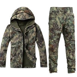 冬季蟒纹迷彩服套装男正品特种兵作战作训服装女加绒加厚户外军装图片