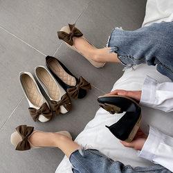 法琪莎2020春季新款平底单鞋子浅口圆头休闲百搭软底简约豆豆鞋女