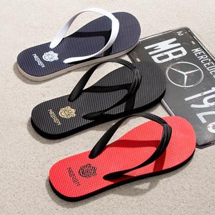 夏季人字拖男防滑拖鞋潮流外穿夹脚男士休闲沙滩鞋户外橡胶凉鞋男品牌