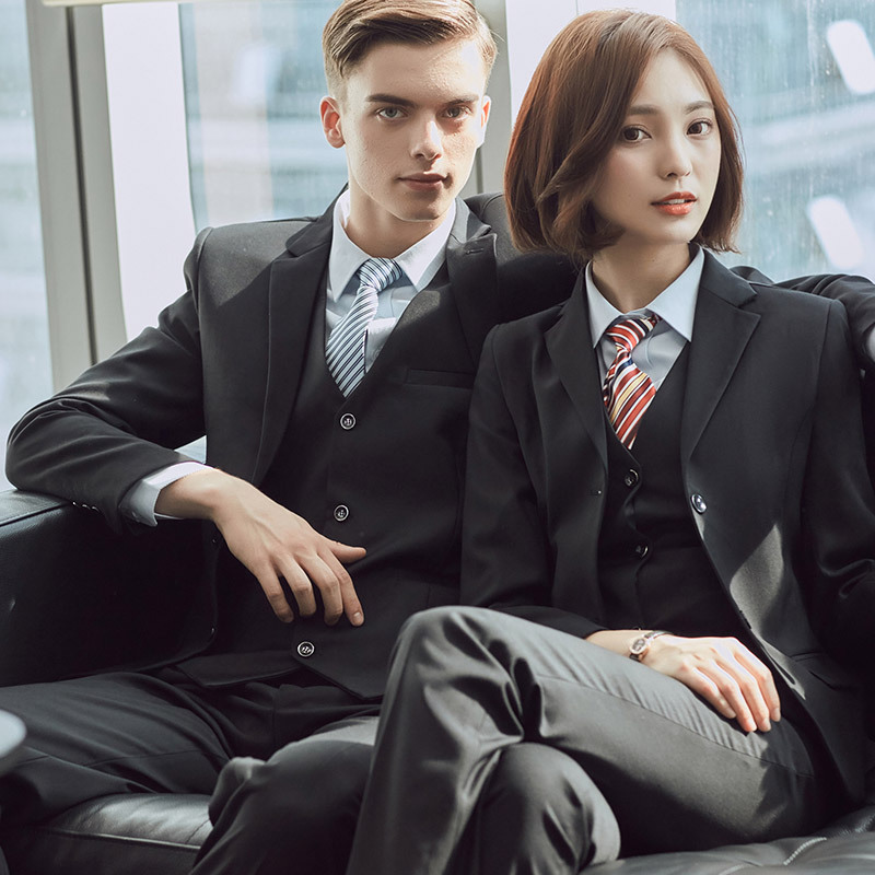 Professional suit womens fashion slim suit mens and womens suits 4S shop sells working clothes real estate work clothes