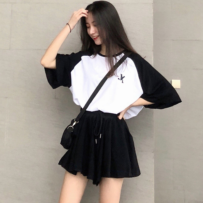 休闲减龄两件套夏季宽松短袖裙裤好用吗