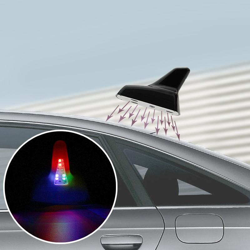 三菱劲炫 帕杰罗 翼神 欧蓝德汽车改装鲨鱼鳍带收音天线装饰配件