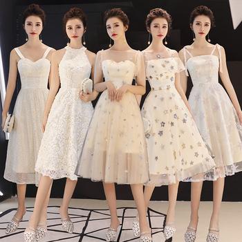 创意伴娘服姐妹团小个子女连衣裙