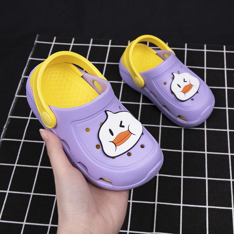 夏季小孩子凉拖家用浴室洗澡宝宝拖鞋男童女童居家软底凉拖鞋中童
