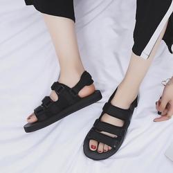 凉鞋女夏2020新款平底百搭韩版学生两穿拖鞋女士平跟情侣沙滩鞋潮