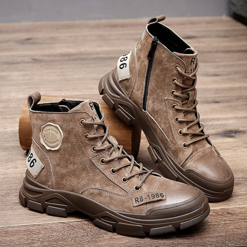 2020 autumn and winter high top Martin boots leather mens Korean version versatile leisure trend desert handsome elevated boots