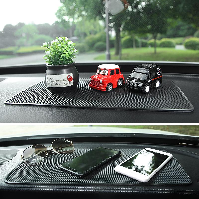 汽车防滑垫耐温车载车内摆件车用粘香水座中控仪表台摆饰置物垫
