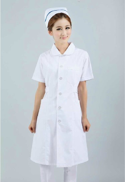 Nightingale white coat nurse clothes short sleeve drugstore clinic oral and dental beauty hospital health care package mail