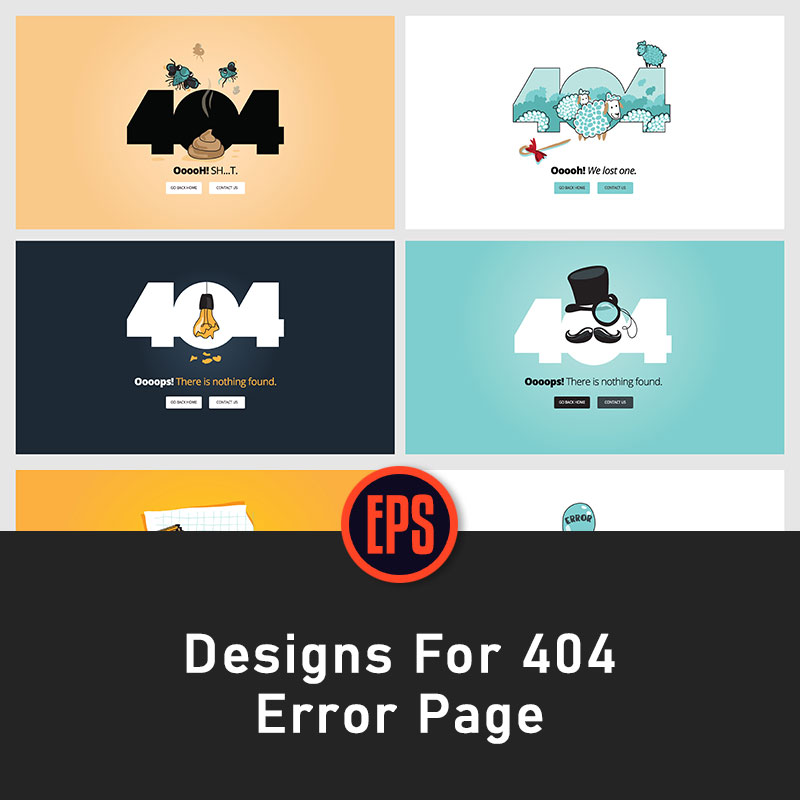 Flat creative website 404 error page EPS vector design material poster template l1418