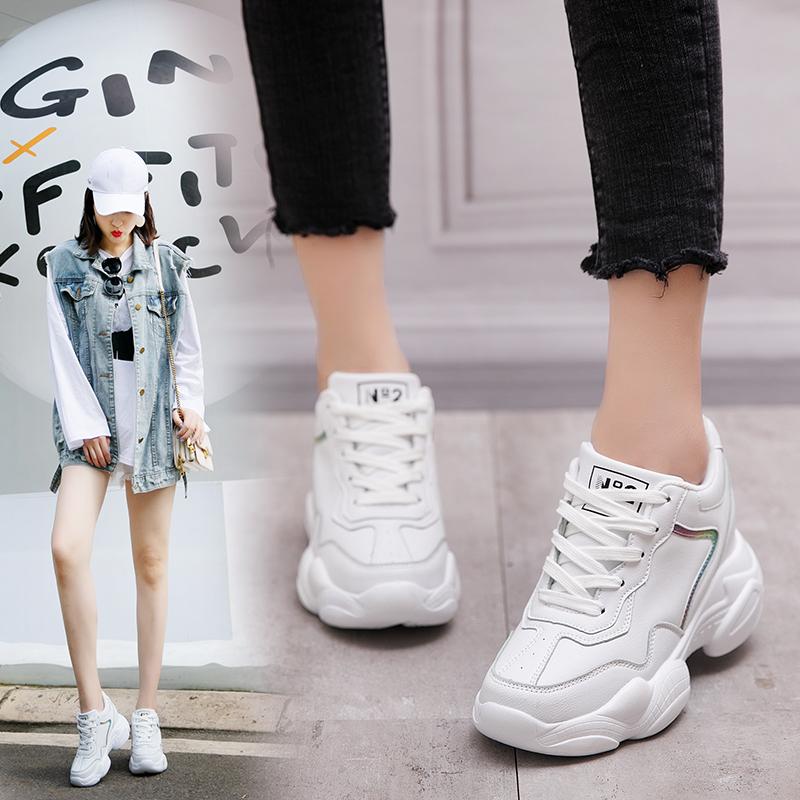 鞋子2019新款女小白鞋百搭学生网红鞋子女潮鞋超火内增高运动鞋女