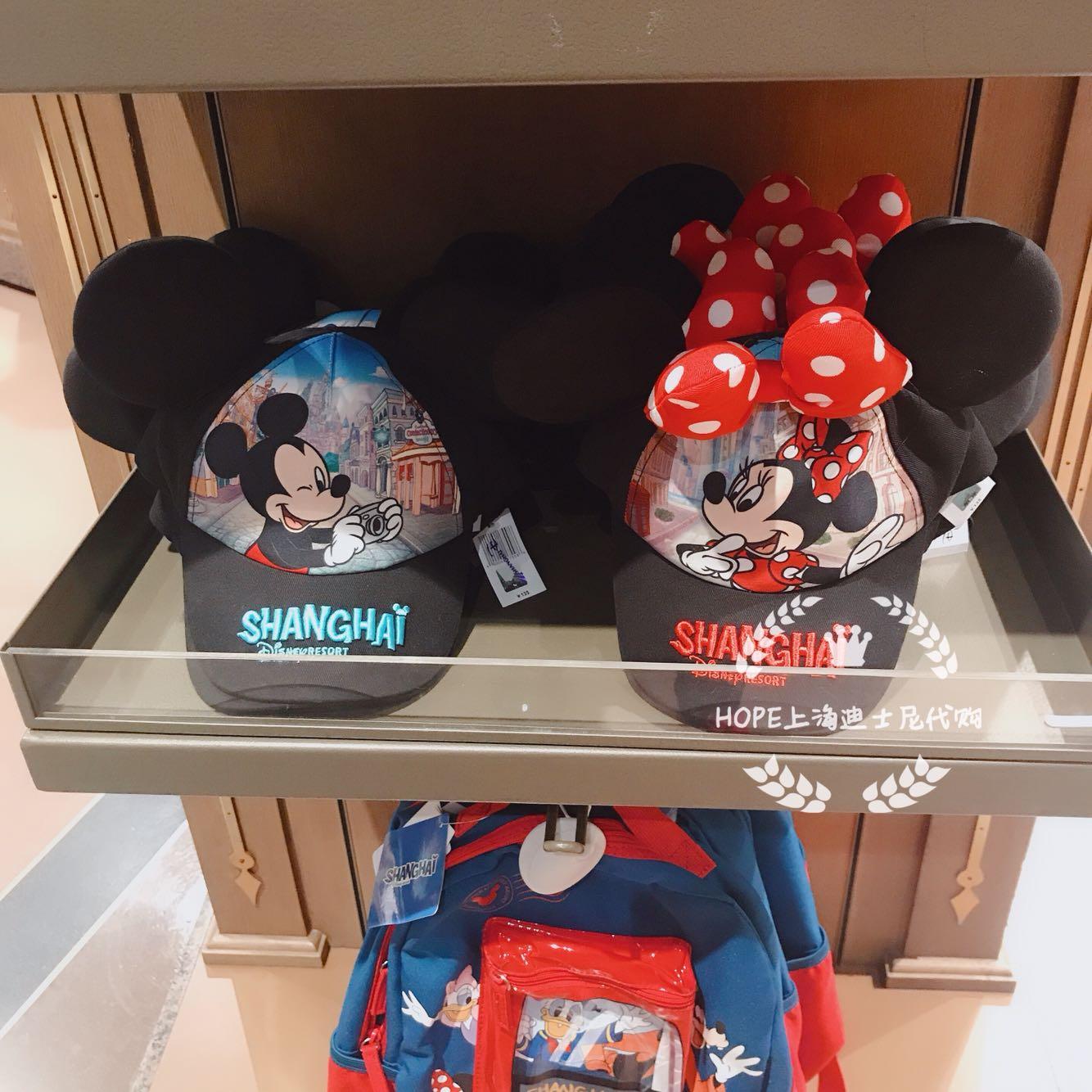 HOPE上海迪士尼代购 米奇米妮shanghai系列卡通遮阳帽太阳帽