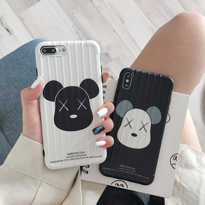 7.30元包邮潮牌卡通熊iphonexsmax手机壳新款情侣苹果67/8plus软套ins防摔
