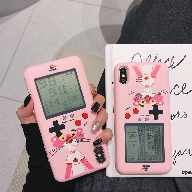 网红顽皮豹游戏机8plus苹果x手机壳iphone xsmax/xr创意7p女6热销42件假一赔十