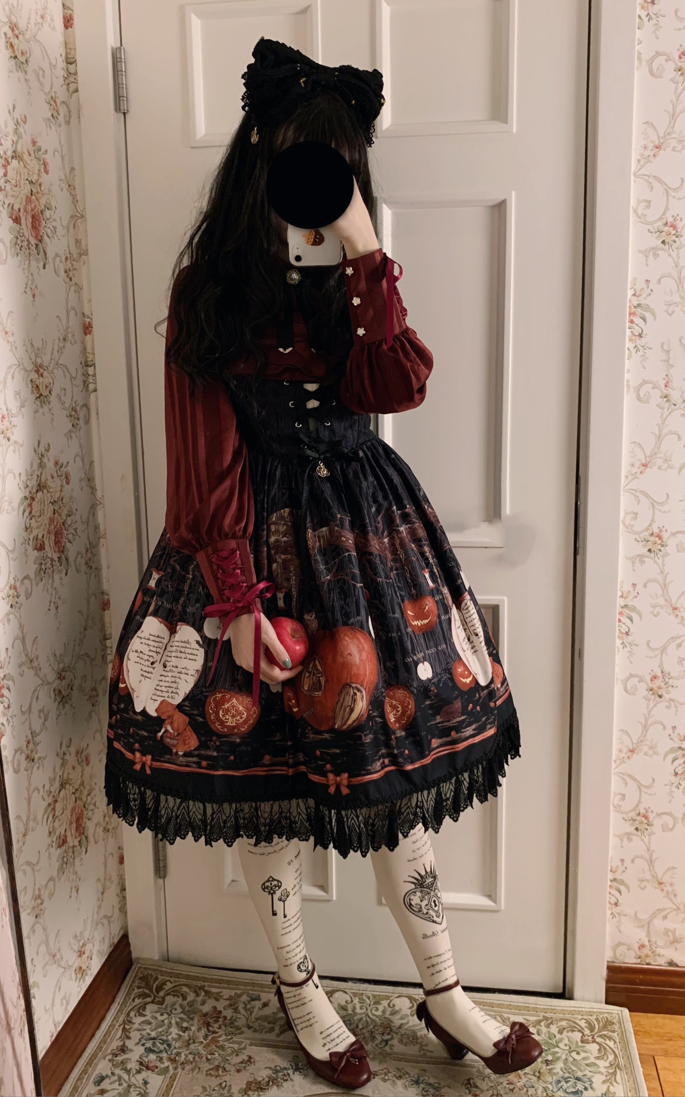 [in stock] light light one Lolita original leg cuff water towel five color shirt spring and Autumn