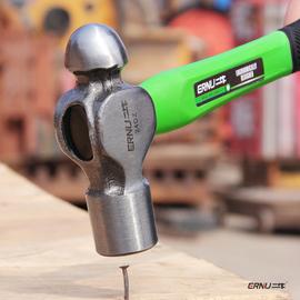 圆头锤家用铁锤子榔头纯钢手锤奶头锤小锤子迷你重型木柄锤头工具