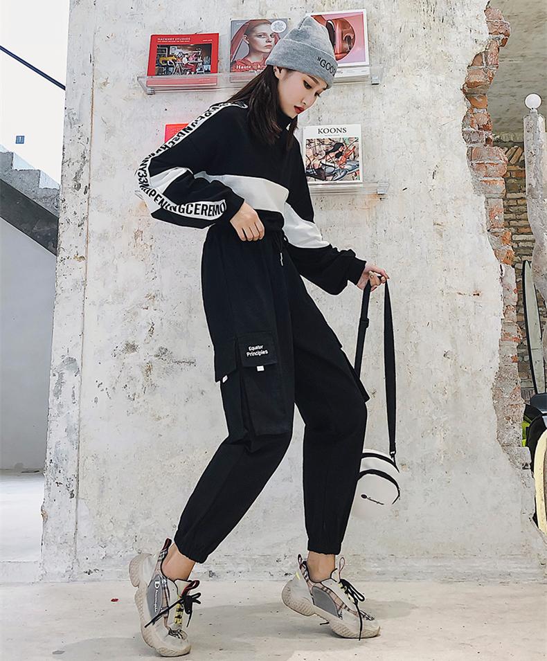 限时抢购女装帅气嘻哈风格bf街头风工装裤子