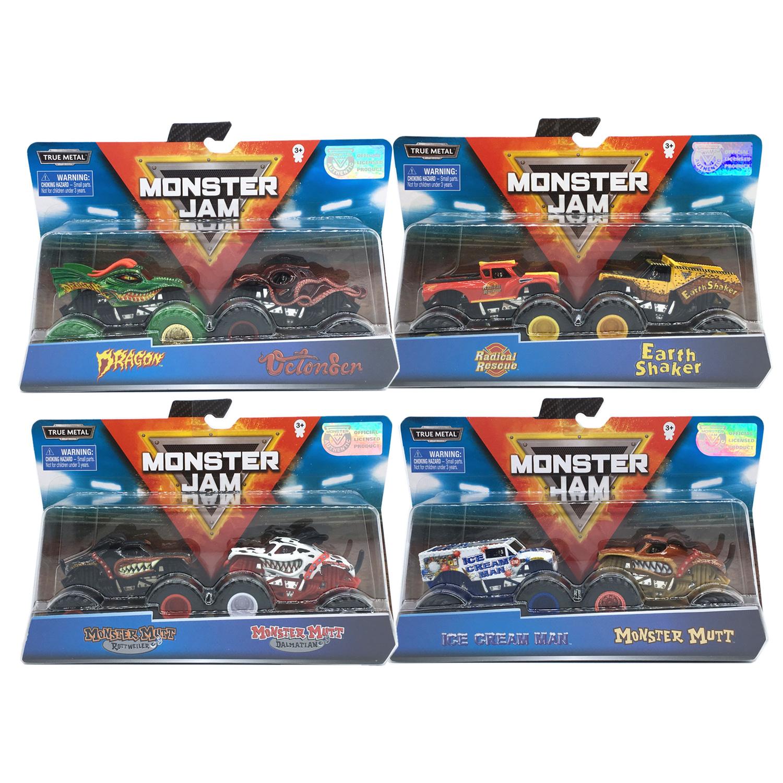 MONSTER JAM斯平玛斯特疯狂大脚怪兽卡车 模型玩具合金越野车1 64