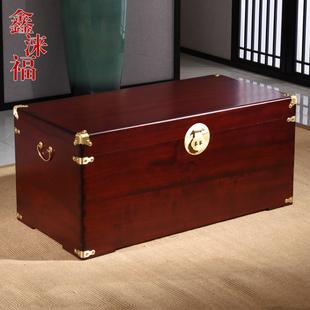 香樟木箱子100%全实木平板字画收藏箱婚嫁箱结婚箱子储物箱樟木盒