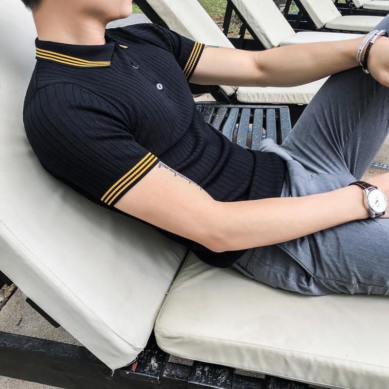 阿斯顿男装旗舰店正品装酷u仕2018新款宝马男人本色针织POLO衫