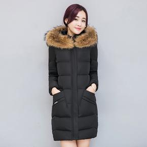 棉衣女2020新款羽绒棉服中长款修身显瘦大毛领棉袄大码冬季厚外套