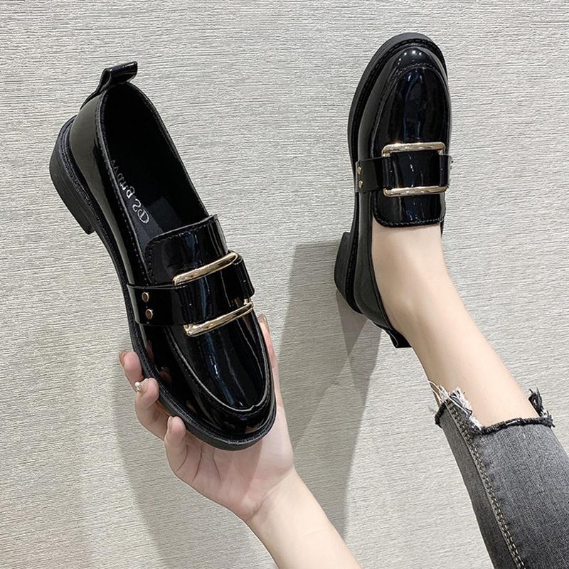 黑色女网红2021新款英伦风女小皮鞋评价如何