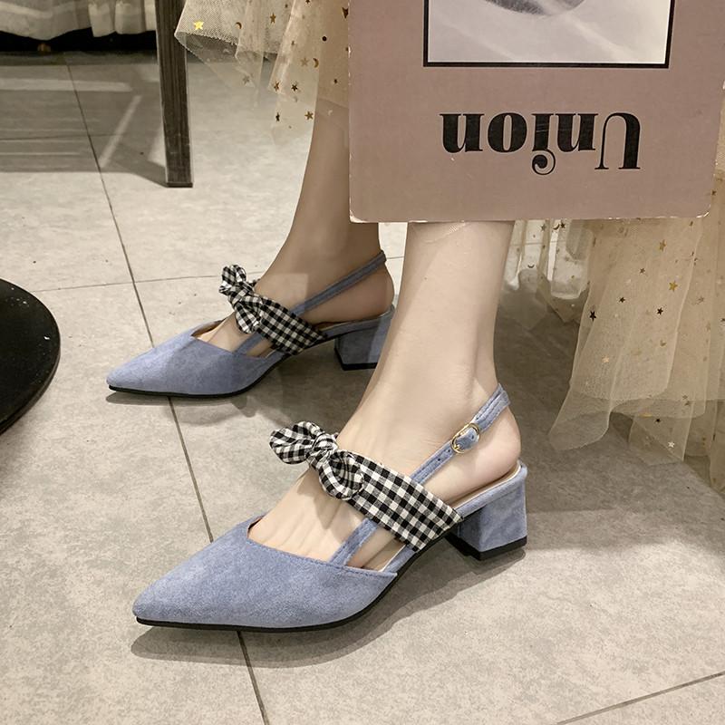 崖虎蓝色罗马鞋